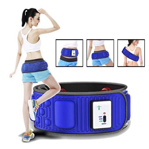 Elektrischer Slimmerbelt, Professioneller Vibrationskörpergürtel Bauchmassagegerät Fettverbrennungsgürtel Bauchfettverbrenner, Blau