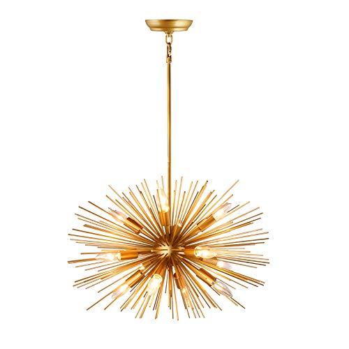 24 Inch Wide Inch Astra Sputnik Satellite Pendant Light Gold Spike Chandelier Starburst Lamp 12 Light (Rod)
