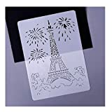 Iusun Painting Stencils Eiffel Tower Stencil - Building Series,Craftly Painting Drawing Mold DIY Printer Drawing Template