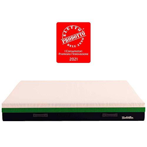 Baldiflex Materasso Singolo Memory Foam Mojito - Eletto Prodotto dell´Anno 2021 - misura 90x200 cm H25 cm