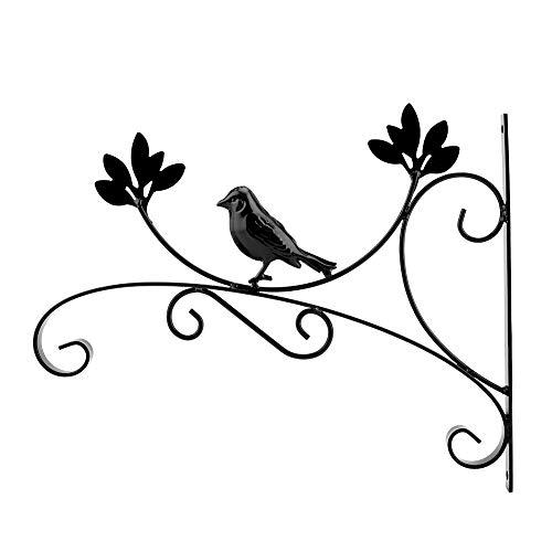 Suporte para plantas, gancho para vasos de flores pendurado na parede de ferro, adequado para decoração de casa, decoração de jardim