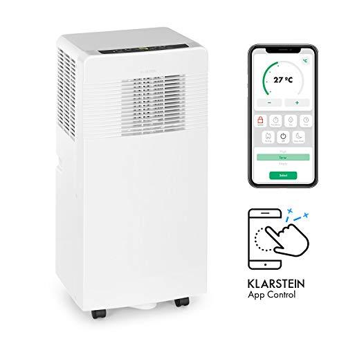 Klarstein Iceblock Ecosmart - mobile Klimaanlage, 3-in-1: Kühlung, Entfeuchtung, Ventilation, WiFi: Steuerung per App, Energieeffizienzklasse A, 9.000 BTU / 2,6 kW, Raumgröße: 26 bis 44 m², weiß