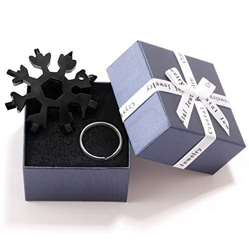 CNXUS 18-in-1 Edelstahl Schneeflocken Multi-Tool, Geschenke für Männer, Gadgets für Männer, Weihnachtsgeschenke, Adventskalender Männer 2020, Coole Werkzeug Kleine Geschenk für Papa, Mann, Frauen