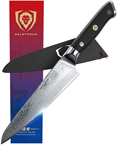 DALSTRONG Chef Knife - 7' Shogun Series - Damascus - Japanese AUS-10V Super Steel -G10 Handle - w/Sheath
