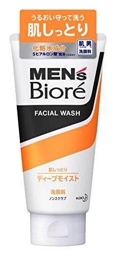 Men's Biore Facial Wash Deep Moist Non-Scrub 130g