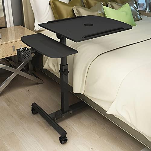 Smile Diary Mesa plegable para computadora portátil giratoria mesa de escritorio para la cama se puede levantar de pie escritorio muebles para el hogar (C)