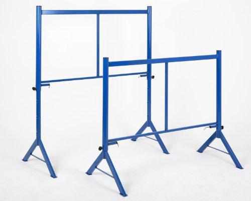 Gerüstbock 4-fach höhenverstellbar 1000 kg, HxBxT 144x120x57cm, 2 Stück á 500 kg, (1000kg Gesamtbelastbarkeit) blau, (SET = 2 Stück) Marke: Szagato