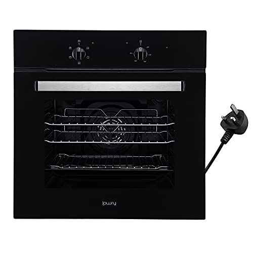 Lowry LFEO1001B Built-In 58 Litre Electric Fan Oven, Easy Plug In, A Rated,...