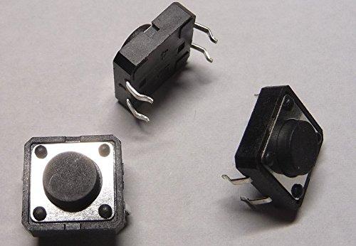 10 x Mini-Taster 12x12mm Printmontage liegend