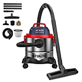 Stealth Wet Dry Vacuum, Portable 5 Gallon 5.5 Peak HP Stainless Steel Shop Vacuum Cleaner, Powerful Suction with Blower 3 in 1 Function Shop Vacs, Ideal for House, Garage, Basement, Workshop