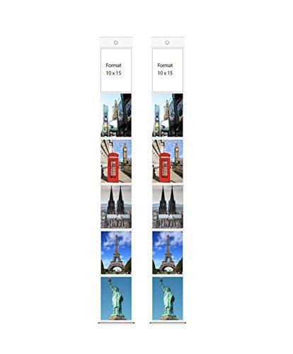 Trendfinding Foto Bilder Karten Halter Fototasche Fotowand Fotohalter Kartenhalter (2 x 6 Fotos Hochformat 10x15)