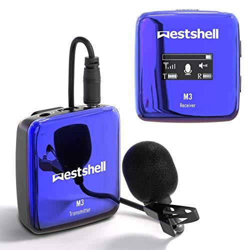 Westshell 2.4Ghz Wireless Lavalier Microphone System Wireless Transmitter & Receiver...