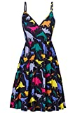 Spreadhoodie Lady Sleeveless Strap Dress for Women Off Shoulder Floral Printed Adjustable Strap...