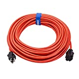 Clear Power 50 ft Outdoor Extension Cord 16/3 Gauge, Orange, Water & Weather Resistant, Flame Retardant, 3 Prong Grounded Plug, DCOC-0117-DC