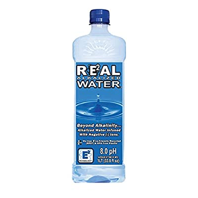 Real Water Alkalized Water, 33.8 Fluid Ounce (P...