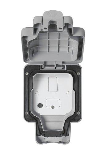 MK Masterseal Plus K56410GRY - Unità di connessione fusa e con commutatore, 13 amp