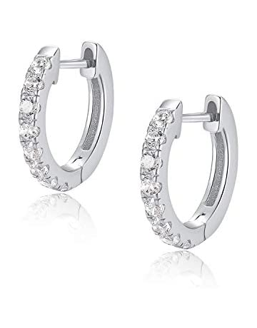 hook and clip on versions available simple /& dainty diamonds earrings clear plastic jewelry lightweight