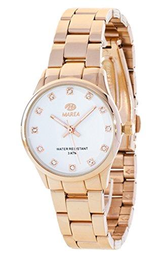 Ref. B41154/4 Reloj Marea Señora, caja y brazalete de acero rosé, sumergible 30 metros, garantía 2 años.