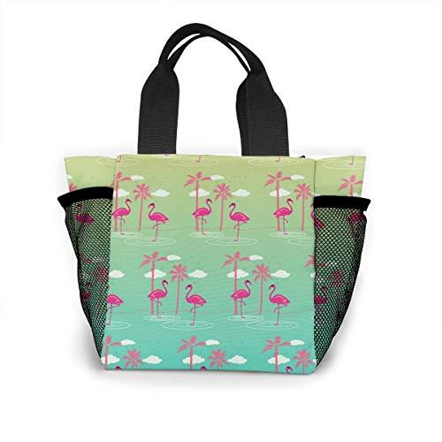 Cute Animal Birds Colorful Pink Flamingo Handbag Women Fashion Bag Reusable Shopping Bags Light Handbags High Capacity Gift Bags Food Storage Bags