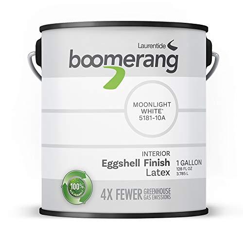 Boomerang Eco-Friendly Interior Paint, Eggshell Finish (Moonlight White)