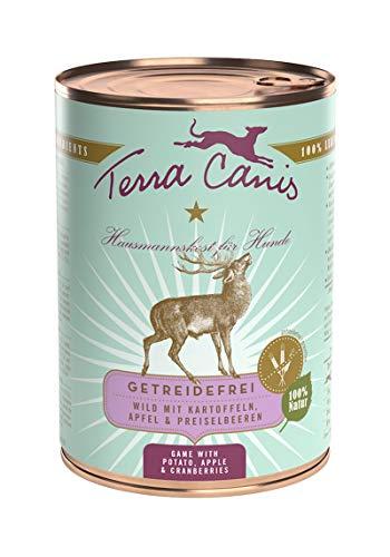 Terra Canis Wild mit Kartoffeln, Apfel und Preiselbeeren, 12er Pack (12 x 400 g)