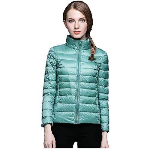 Daysing Damen Daunenjacke Ultraleicht Warm Damenjacke frühling Steppjacke Damenmantel Übergangsjacke für Herbst Winter Khaki blau 12 Farben S-3XL