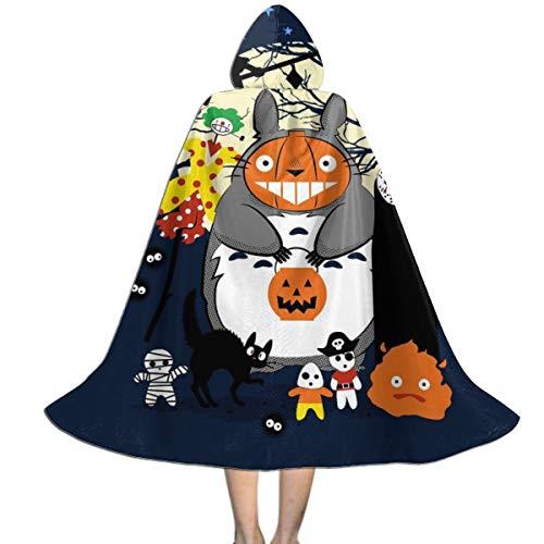 NUJSHF Creatures of The Night Studio Ghibli Capa con Capucha Unisex para niños, para Halloween, decoración de Fiestas, Disfraces de Cosplay