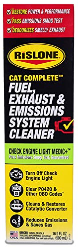 Rislone Cat Complete Fuel, Exhaust & Emissions System Cleaner, Check Engine Light Medic