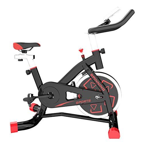 Strele Professionelles Intelligentes Fahrrad, Widerstand Unendlich Variable Geschwindigkeitsanpassung, Handy APP Verbindung, Leise Riemengetriebe, Indoor-Fitness-Heimtrainer,Schwarz