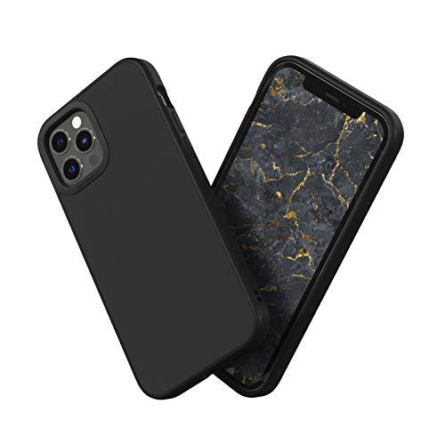 RhinoShield Case kompatibel mit [iPhone 12/12 Pro]   SolidSuit - Schock Absorbierende Dünne Schutzhülle mit Premium Finish 3.5 Meter Fallschutz - Klassik Schwarz