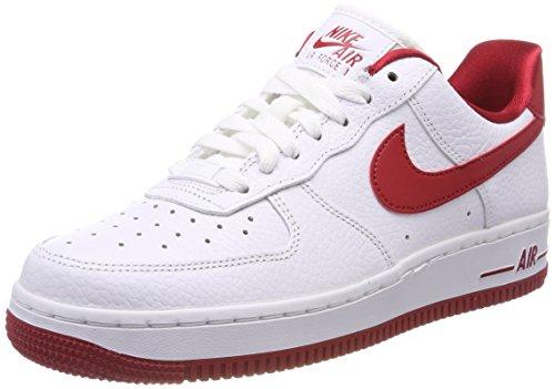 Nike Wmns Air Force 1 '07 Se, Zapatillas de Gimnasia Mujer, Multicolor (Whitegym Redwhitegym Red 101), 44.5 EU