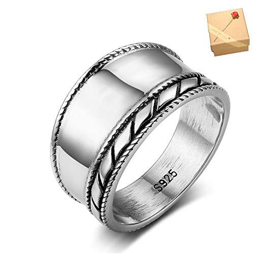 Personalisierte Namen Wind Bali Ring 925 Sterling Silber Ringe Frau Ringe Herren Kamerazubehör Box,7