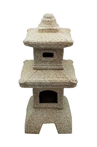 HOME HUT Pagoda Garden Chinese, Japanese Ornament Sculpture Lantern decor Ceramic LARGE