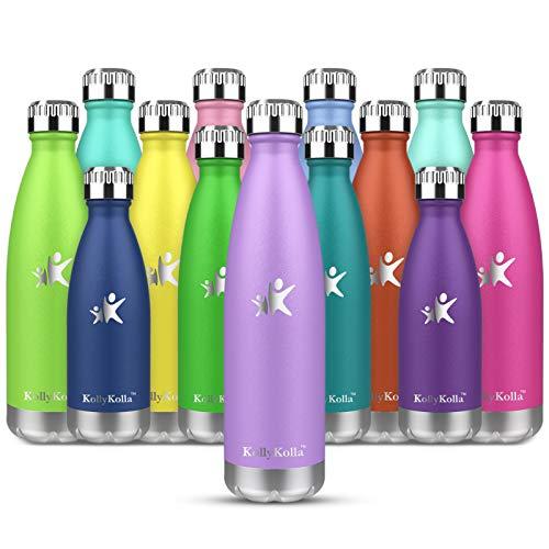 KollyKolla Bottiglia Acqua in Acciaio Inox 750ml, Senza BPA Borracce Vuoto Isolato Borraccia Termica Senza Perdite in Metallo,per Bambini, Scuola,Sport,Palestra
