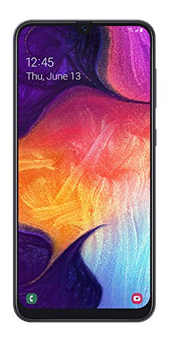 Samsung Galaxy A50 US Version Factory Unlocked Cell Phone with 64GB Memory, 6.4' Screen, Black,...