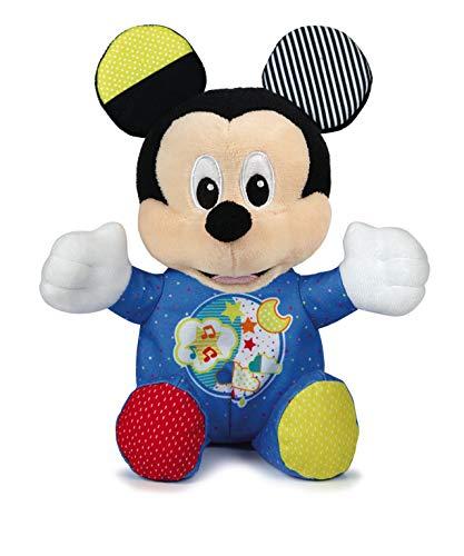 Clementoni-17206 - Baby Mickey Peluche Luces y Sonidos - peluche bebé interactivo de Disney a partir de 3 meses