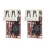 Auoeer 2pcs DC-DC MÓDULO 6-24V a 5V 3A USB Paso Abajo Fuente de alimentación Eficiencia del Cargador 97.5%