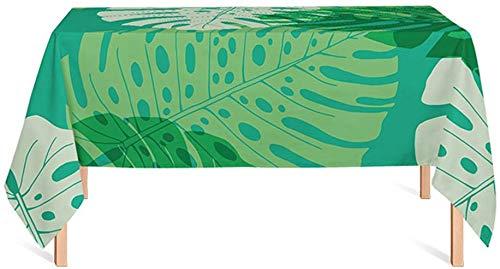 ZXL tafelkleed, plantenprint, woonkamer, tafelkleed, groen, creatief, restaurant, tafelkleed, eettafel, lengte 85-240 cm (kleur: B, maat: 140 x 100 cm)