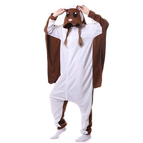 Pijamas de una pieza para adultos pijamas de una pieza de dibujos animados de lana polar ardilla...