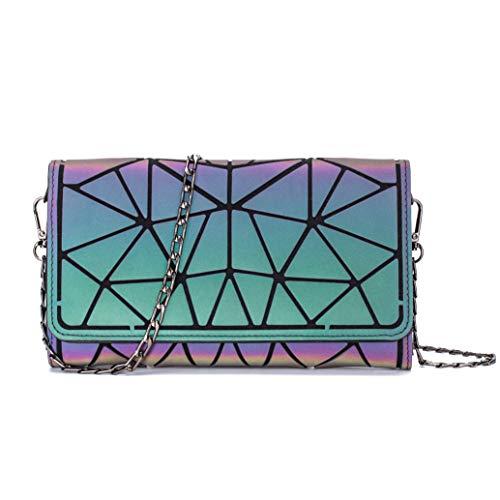 Geometrische Lange Brieftasche und Geldbörse - Mode Leuchtend Trifold Gitter Geldbörse Brieftaschen für Damen L2