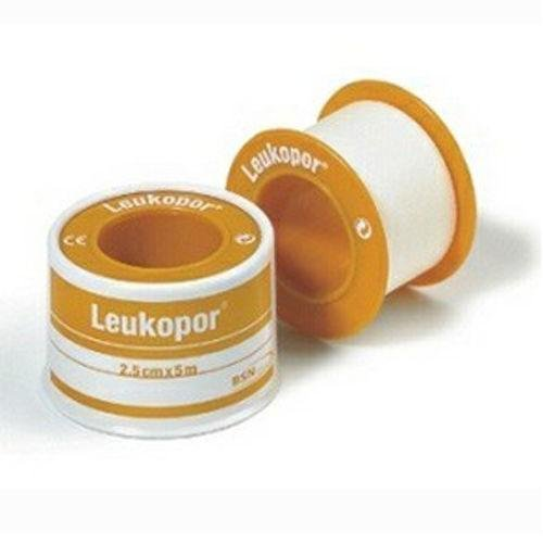 Leukopor Hypoallergen Chirurgischer Tape 2,5cm x 5m x6