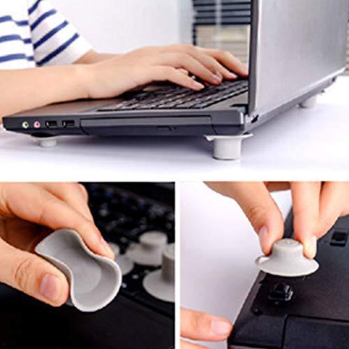 Ndier Portátil Laptop Soporte, Soporte de refrigeración de, Almohadilla Antideslizante de Esquina...