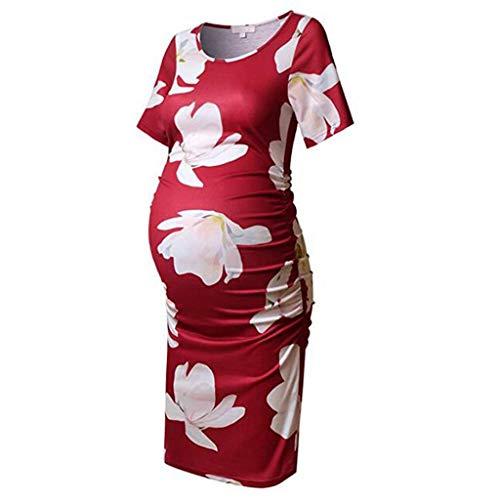 Siswong V/êtements de Maternit/é Allaitement Haut dallaitement /à Manches Courtes Col V Femmes T-Shirt