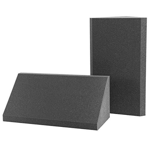 AcousPanel Trampa de Graves Line Studio Pro. Set Bass Trap de 2 piezas de 60x37x26 cm. Color gris antracita. Espuma acústica de alta absorción para bajas frecuencias.