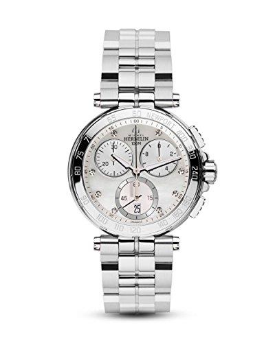 Michel Herbelin 33696/B59 Damen-Uhr Newport Chronograph Quarz Edelstahl
