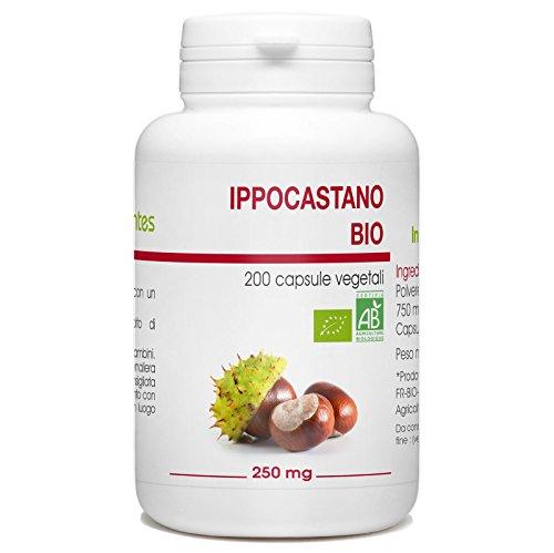 Ippocastano Bio - Aesculus hippocastanum - 250mg - 200 capsule vegetali