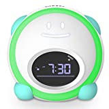 Little Tiddi Kids Alarm Clock, Toddlers Alarm Clock, Children's Trainer Clock with Facial Expressions, Wake up Light, Sound Machine and Night Light, Nap Timer, Alarm Clock for Kids Boys Girls Bedroom