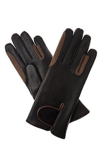 Kerbl gants d'équitation pour homme fait main en cuir nappa d'agneau marron - Marron - 8