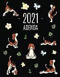 Perros de Yoga Agenda 2021: Planificador Mensual que Inspira Productividad | Con Calendario Mensual...