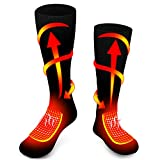 Rabbitroom Unisex Electric Heated Socks, Thick Knitting Thermal Sox Care Chronically Cold Feet, Warm Cotton Crew Socks